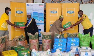 MTN Uganda has started distributing food and alms to the Muslim community