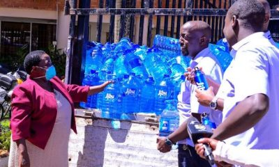 ibu Uganda has made a donation of 10,000 litres of drinking water to the COVID-19 National Taskforce.