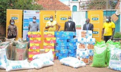 MTN Uganda together with Salaam TV delivered some of the donations to Oasis Orphanage in Lweza, along Entebbe Road.