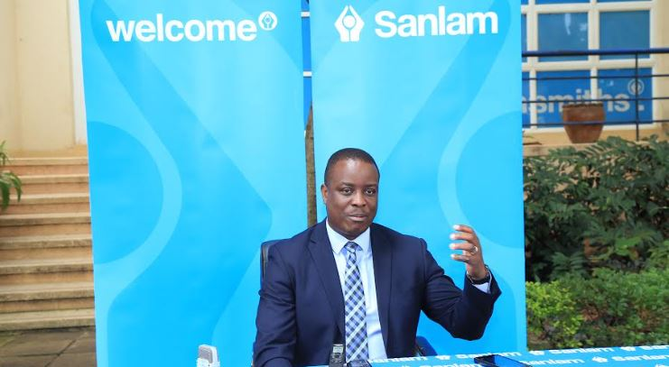 Nicholas Lutakome, (Ag.) CEO Sanlam Life addresses media