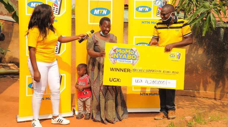 Nalongo Kevin Namagembe from Makerere-Kikoni won Ugx 4.2 million from the MTN MoMo Nyabo Promotion