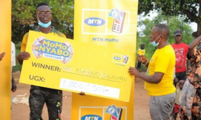 Sulaiman Magino senior four student from Pallisa has won UGX 1,800,000 in the on-going MTN MoMoNyabo Together promotion.
