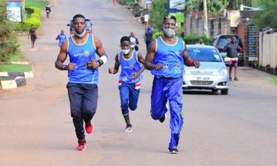 Golola Moses participates in the Rotary Cancer Run