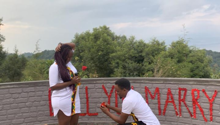 Peter Mutabazi has proposed to his girlfriend, Amanda Diana.
