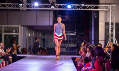 A model at the runway during the 1st edition of the Fashion Revolution expo.