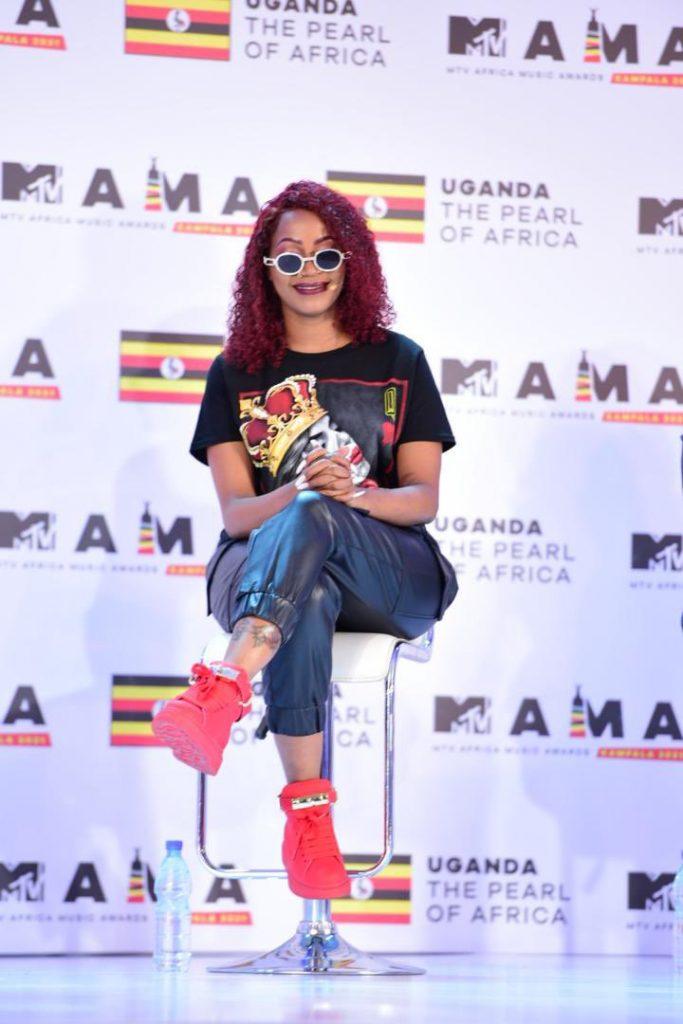 Sheebah at the MTV Africa Music Awards launch in Kampala