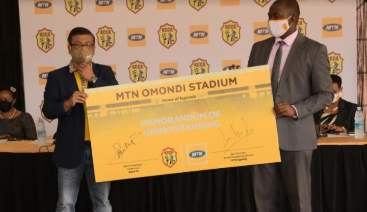 MTN Uganda and KCCA Football Club (KCCA FC) have signed a 10-year partnership that will give MTN naming rights to the club's home ground facility located at Lugogo