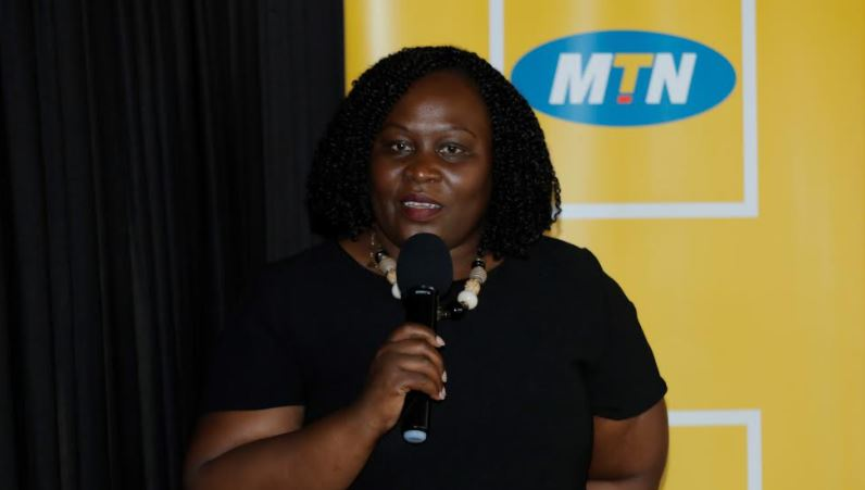 Enid Edroma, the General Manager MTN Uganda Corporate Services.