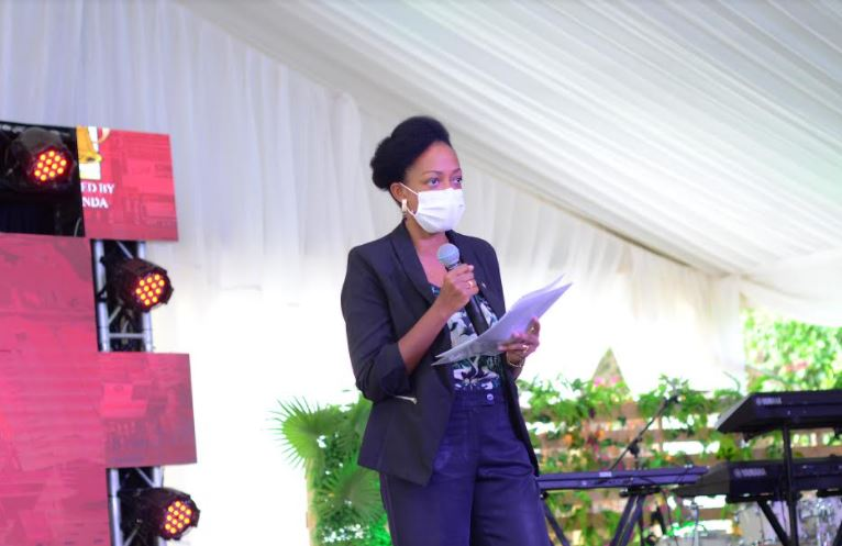 Juliana Kagwa, UBL Corporate Relations Director addresses guests.