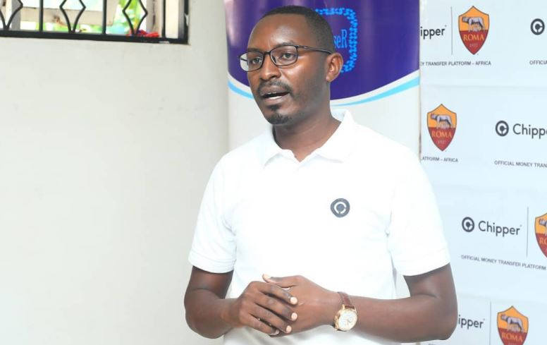 Chipper Cash Country Manager, Deo Tumuramye speaks during the training.
