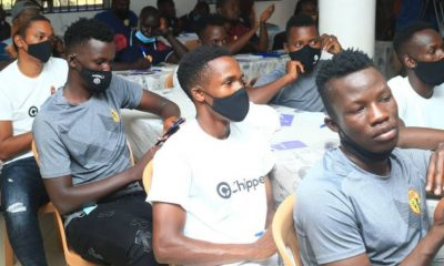 KCCA FC team attending the training.