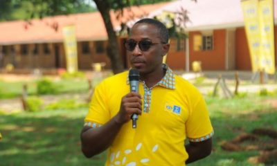 Bryan Mbasa, the Senior Manager MTN Uganda Foundation speaking during the handover ceremony.