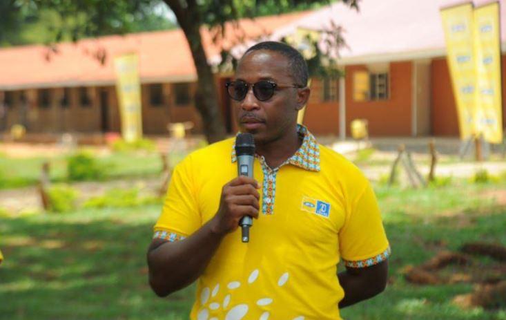 Bryan Mbasa, the Senior Manager MTN Uganda Foundation speaking during the handover ceremony.