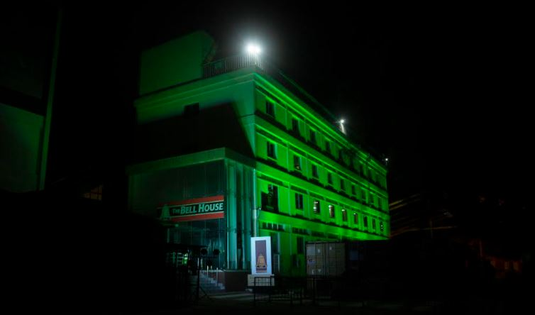 Uganda Breweries illuminated their head offices at Port Bell, Luzira, green, in commemoration of St Patrick's Day.