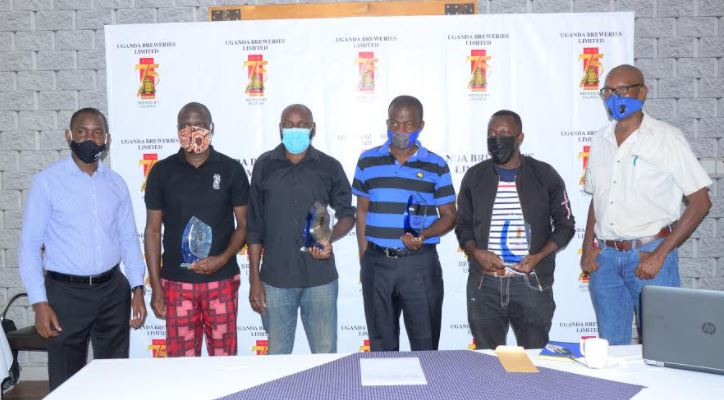 Uganda Breweries Limited has handed over cash prizes of up to UGX 7.5 Million to the winners of the media competition
