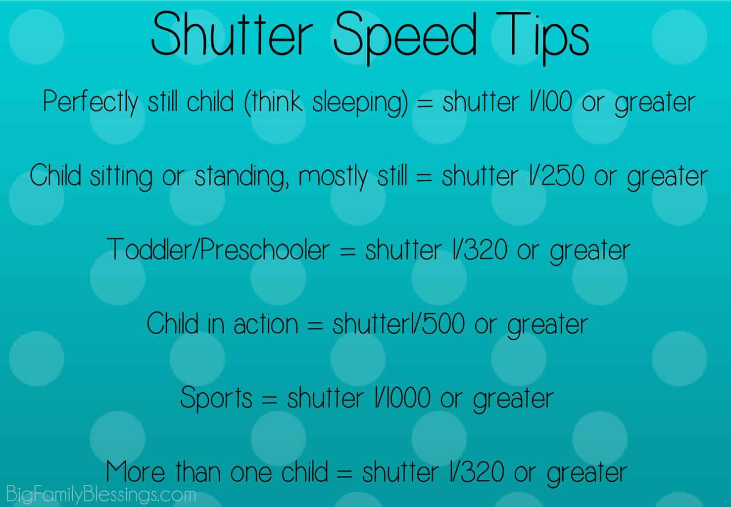choose shutter speed
