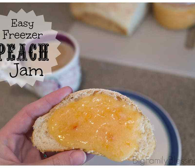 Quick & Easy Freezer Peach Jam