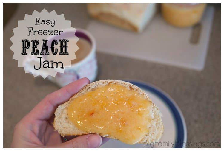 Easy Freezer Peach Jam