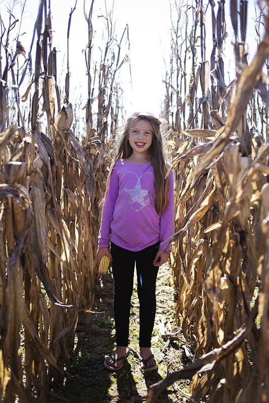 Corn maze fun