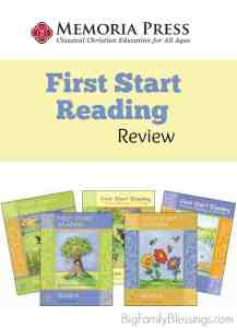Phonics with First Start Reading by Memoria Press {Review}