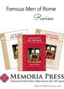 Famous Men of Rome Set by Memoria Press {Review}