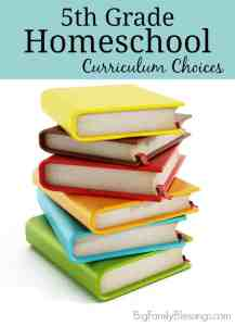 5th Grade Curriculum Choices