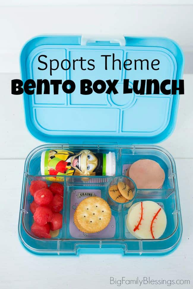 Fuel Their Adventures with a DIY Sports Inspired Lunch. Great for a sports theme bento box lunch!
