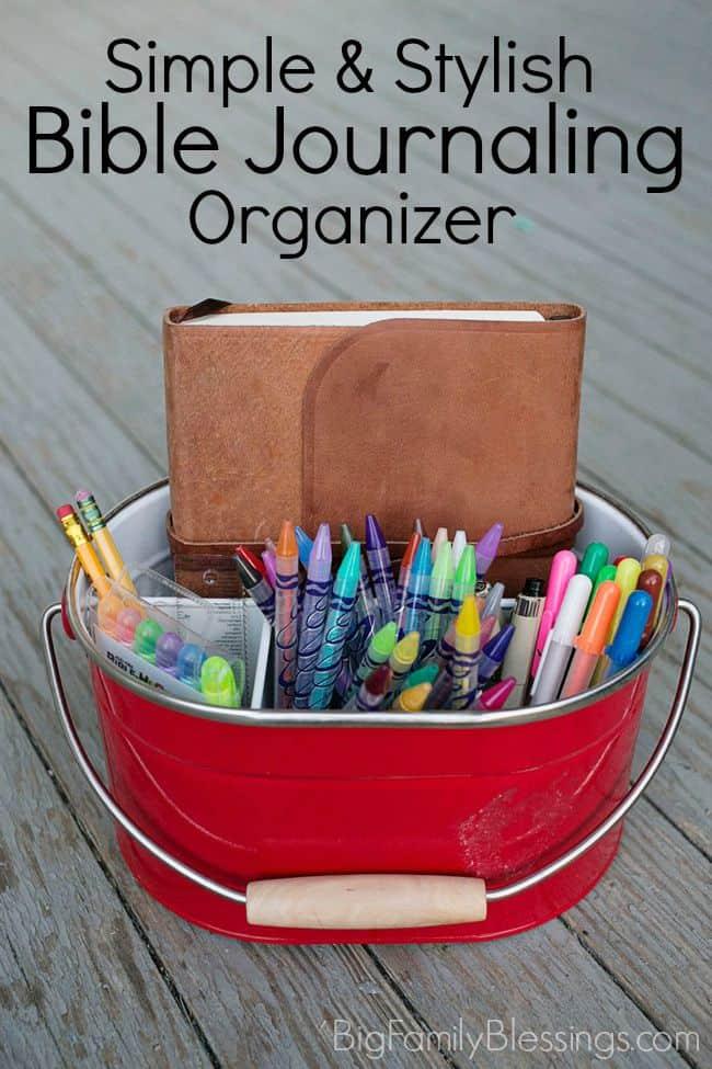 Simple & Stylish Bible Journaling Desktop Organization Ideas