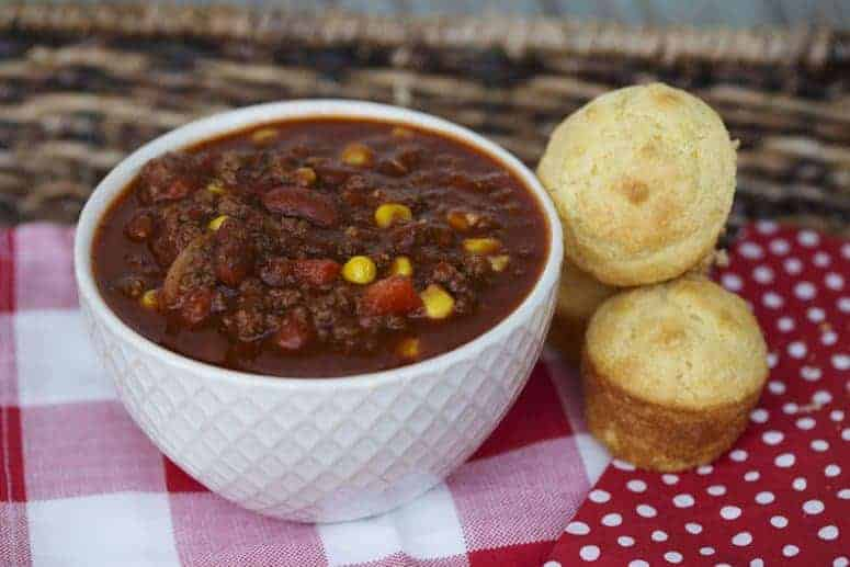 Sweet Chili with just a little kick perfect for cold weather.