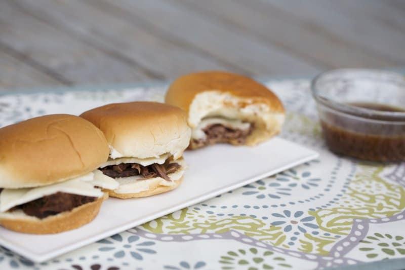 French Dip Crock Pot Sandwiches