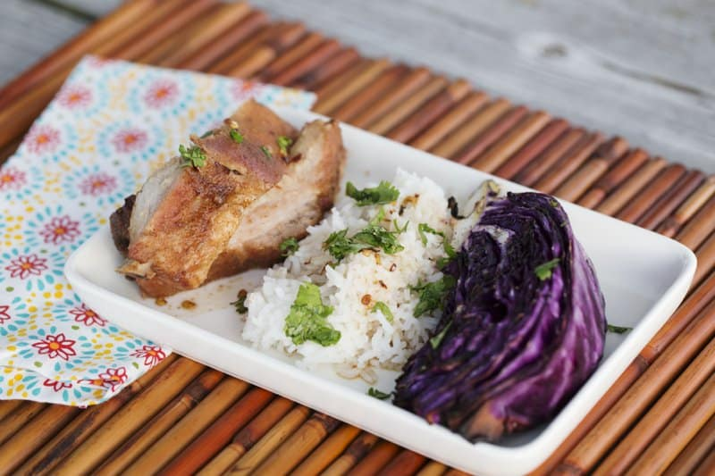 Taiwanese Ribs with Grilled Red Cabbage