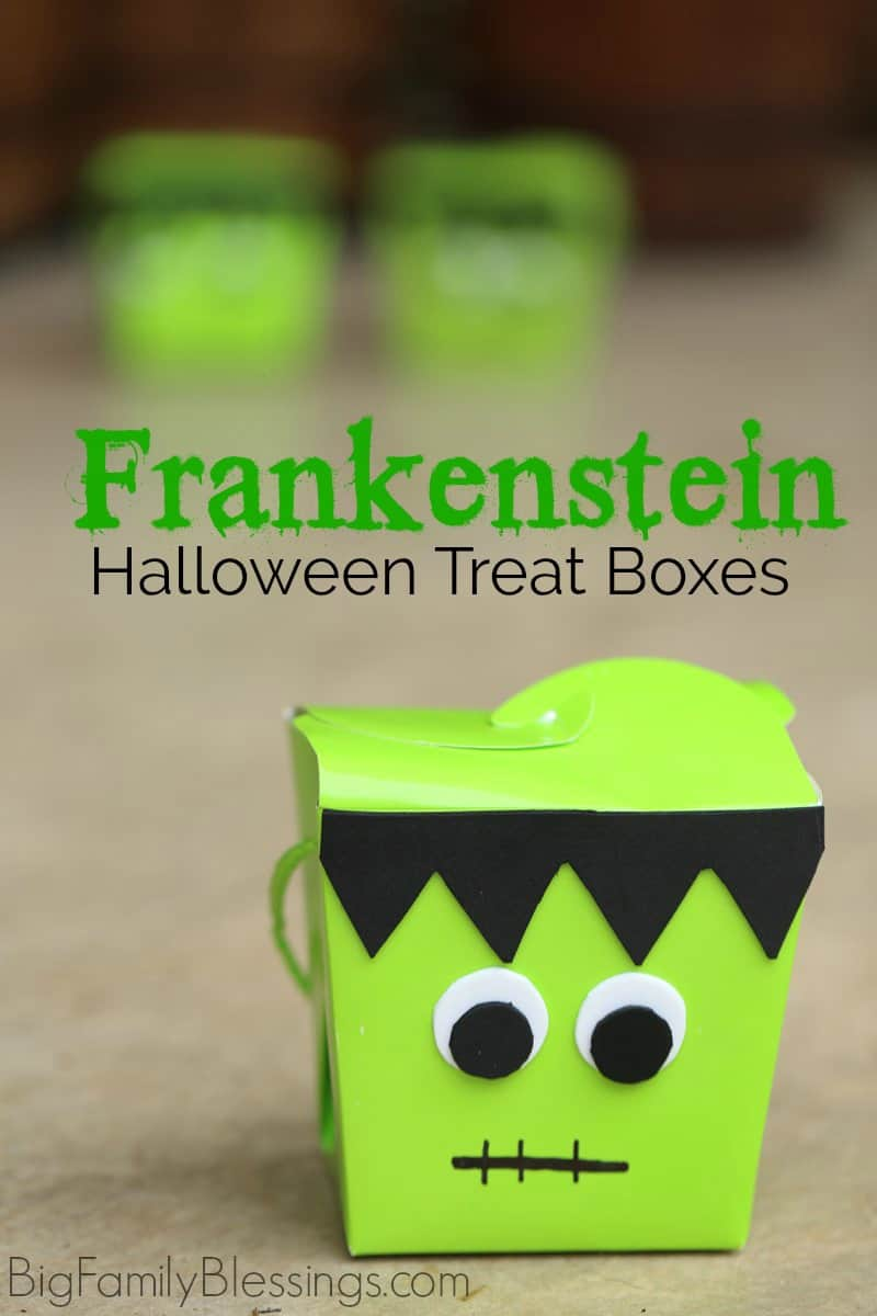 DIY Frankenstein Halloween Treat Box great for party favors or BOO'ing