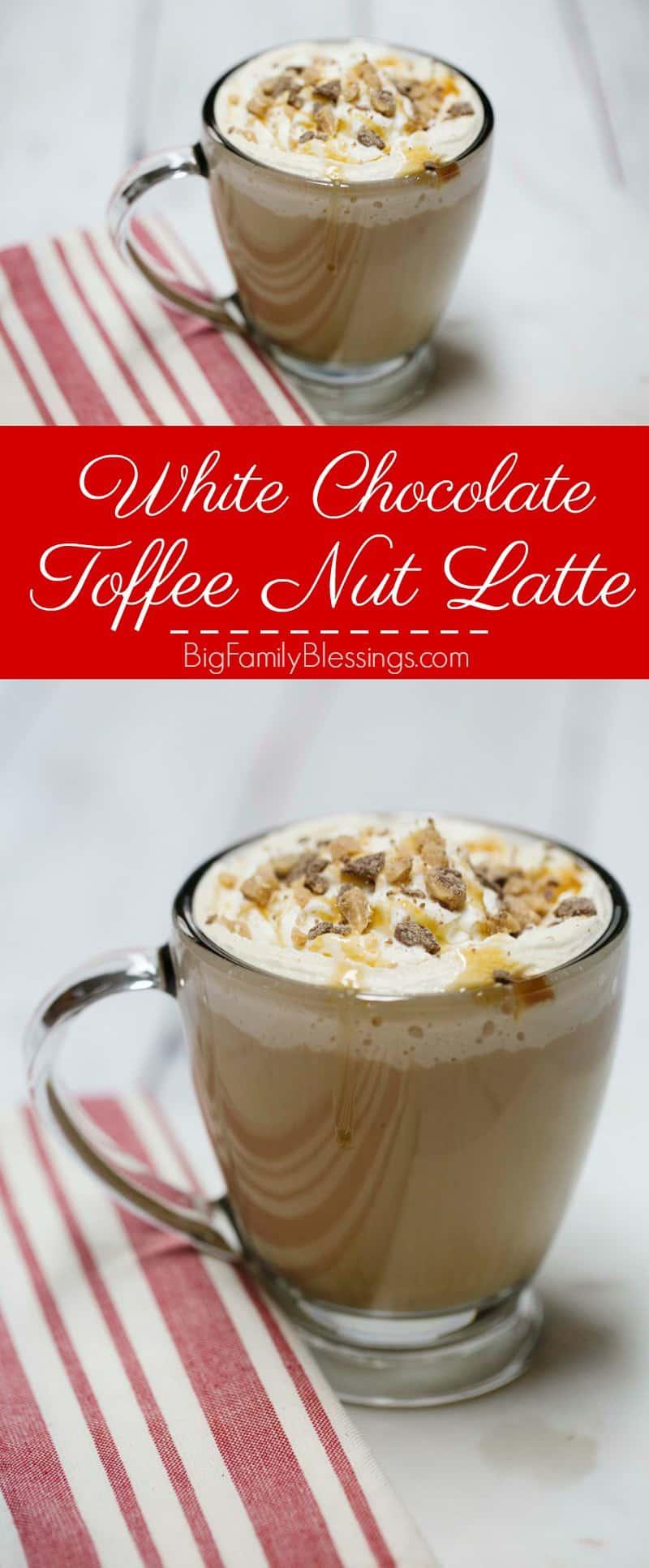 White Chocolate Toffee Nut Latte