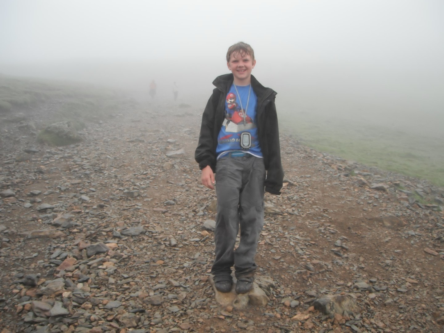 Lochlan at 863m on Mount Snowdon