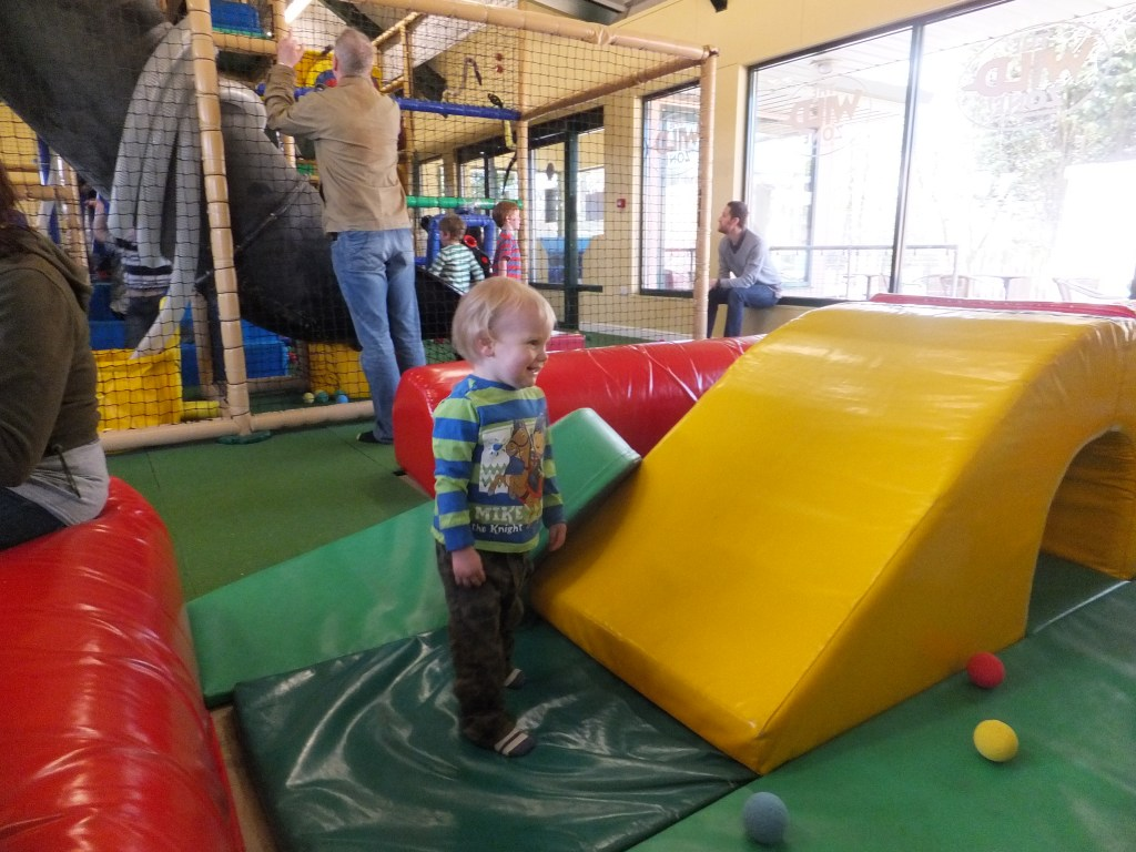Tyrus in the soft play area at Africa Alive