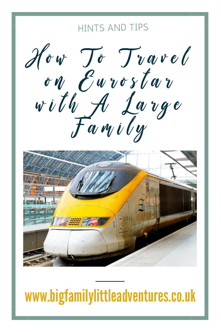 If you are considering travelling on Eurostar and you have a larger family, click through to read my hints and tips for a great experience.
