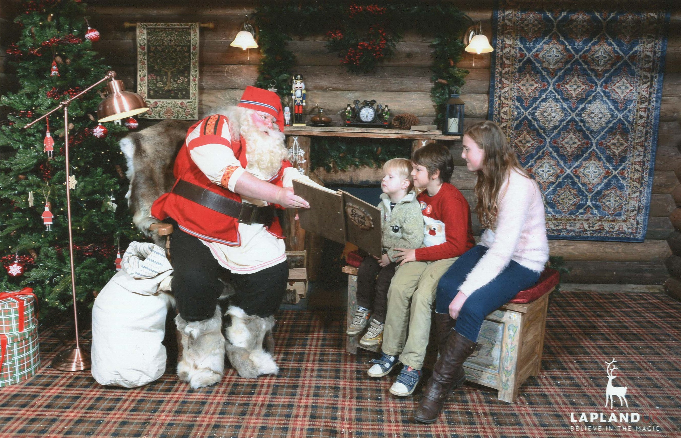 Lapland UK meeting Father Christmas