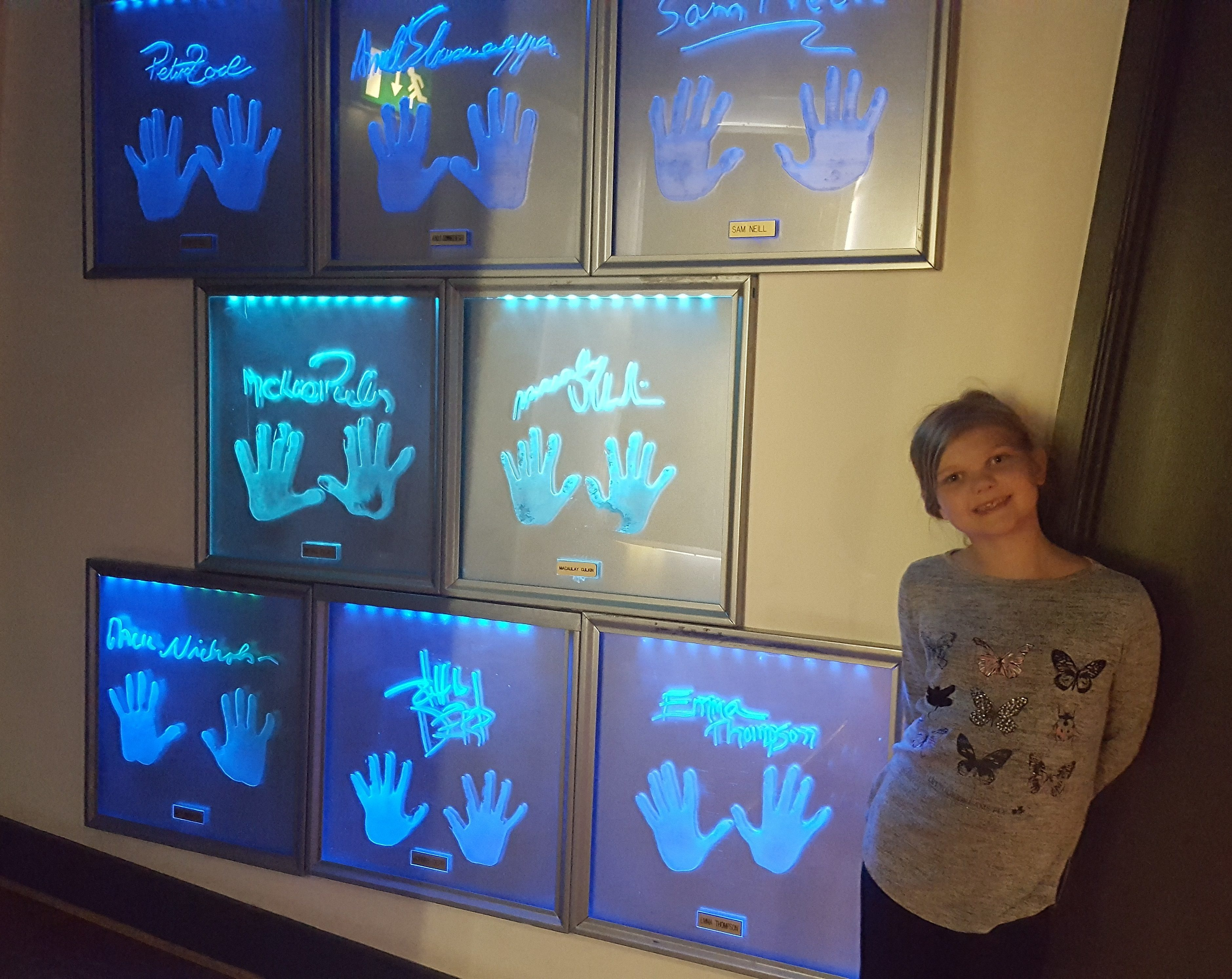 Planet Hollywood Wall of Famous Handprints