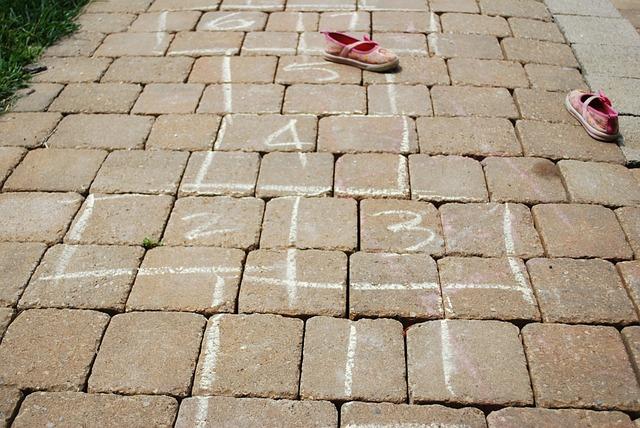 hopscotch on the pavement