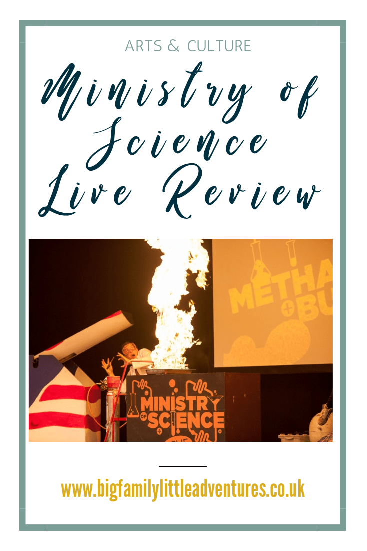 Ministry of Science live is a touring stage show that teaches children all about science in a fun and entertaining way