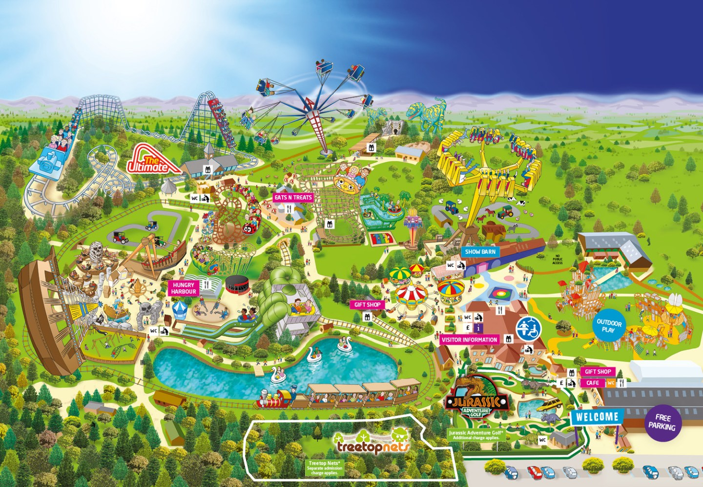 Lightwater Valley Nearest Hotels To UK Theme Parks