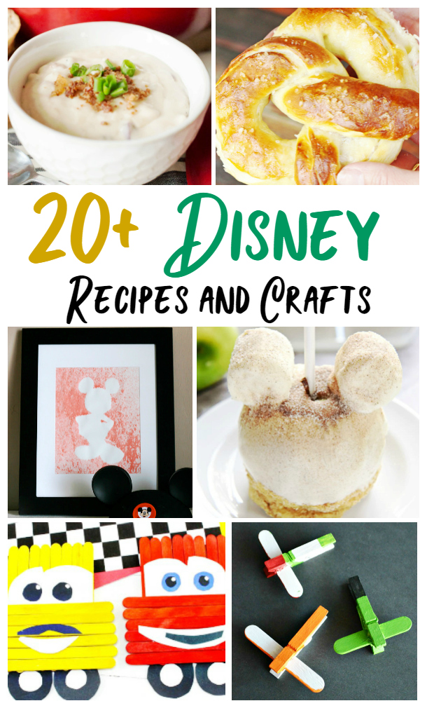 Disney recipes and crafts