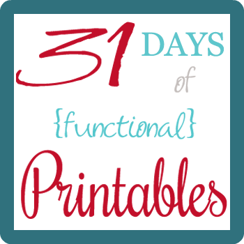 31 Days Of Functional Printables Bank Account Info Sheet Big Family Minimalist