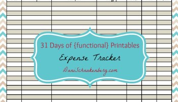 31 days of functional printables bill tracker big family