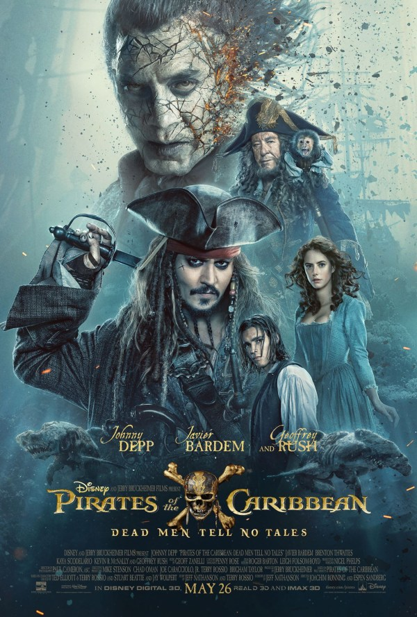 Pirates Of Caribbean Dead Men Tales Trailer Poster - Young Jack Sparrow
