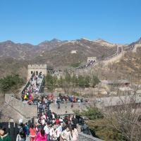 Filmstars at the Great Wall of China