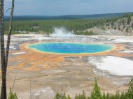 Grand Prismatic Spring view