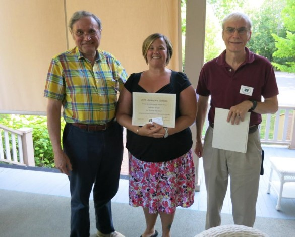 Accepting my award at Chautauqua!