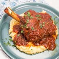 Instant Pot Braised Lamb Shanks with Tomato