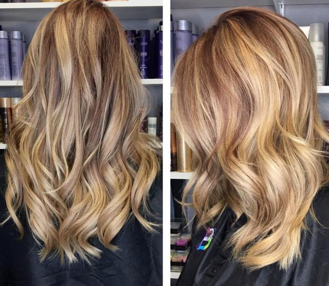 The gallery for Balayage  Before And After Dark Hair
